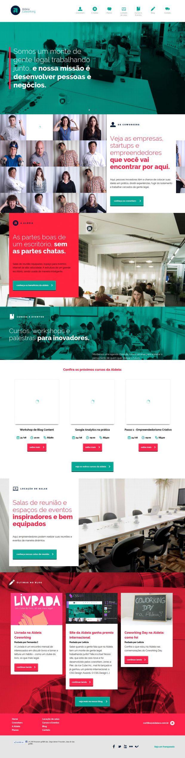 Aldeia Coworking - Webdesign inspiration www.niceoneilike.com