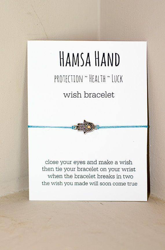 Hamsa Hand Wish Bracelet by HopeStrengthandWine on Etsy