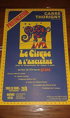 Ancienne Affiche - CIRQUE GRUSS Le Cirque à l'ancienne