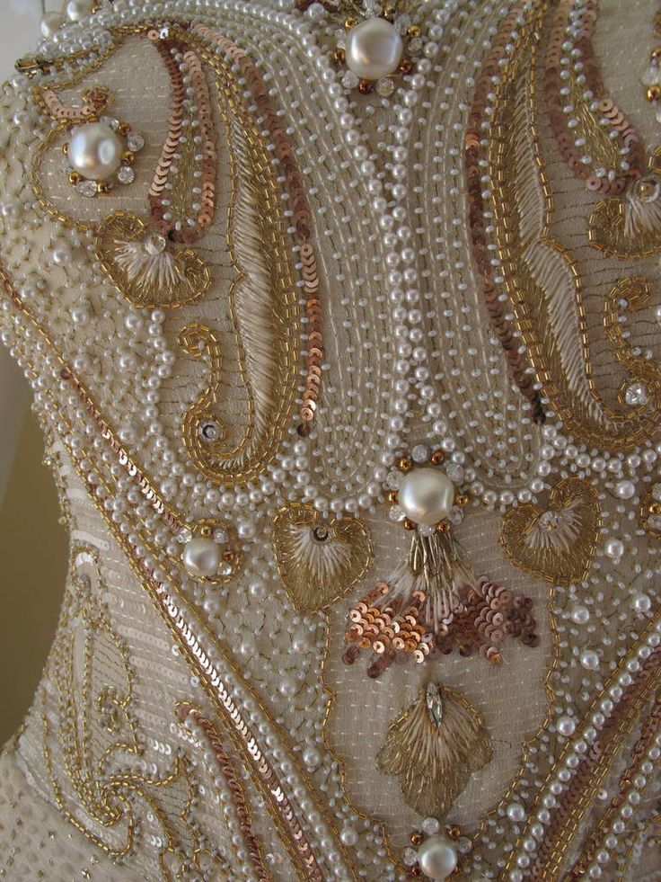 Givenchy Haute Couture Silk Evening Gown w/Beading & Embroidery n°66242 image 5