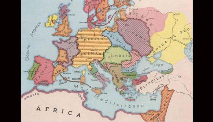 Resultado de imagen para mapa de la division politica de europa en el siglo v