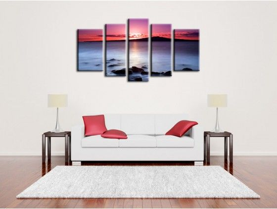 Tableau d co int rieure coucher de soleil decoration for Decoration contemporaine interieur
