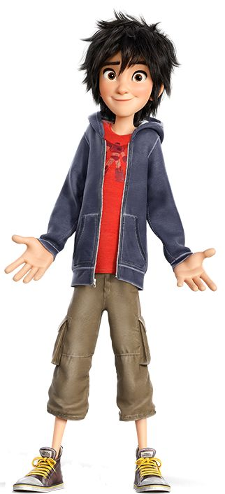 Hiro Hamada is the main protagonist from Disney's 2014 animated feature film Big Hero 6. He is the founder and leader of Big Hero 6, a team of young superheroes. He is based on Hiro Takachiho from the Marvel comic Big Hero 6. He is voiced by Ryan Potter. Hiro Hamada is a young boy with intelligence far beyond his years. Because of this, he can be rather brazen and cocky, but never to the point of arrogance. He spends most of his time using his technology to win money through illegal bot...