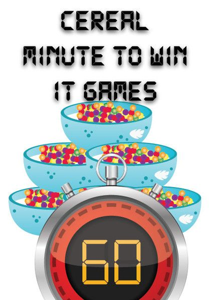 Cereal Themed Minute to Win It Games for Kids