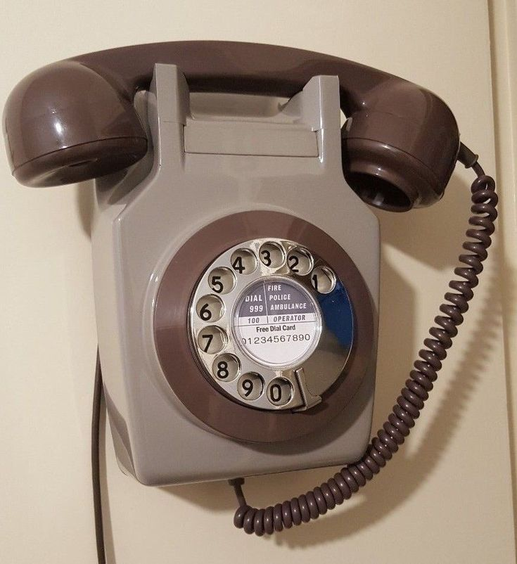 Original Vintage 1970's GPO 741 Rotary Dial Wall Mounted Telephone *Restored*