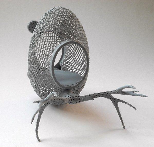 Model gniazda dla ptaków od www.printednest.com (ciekawy pomysł!). Wydruk w jednym kawałku z materiału, który dostaliśmy do testów. Test wypadł pomyślnie :) . Głowica 0.5mm, warstwa 0,2mm. Druk na Urbicum DX.  #Printednest #Urbicum #UrbicumDX