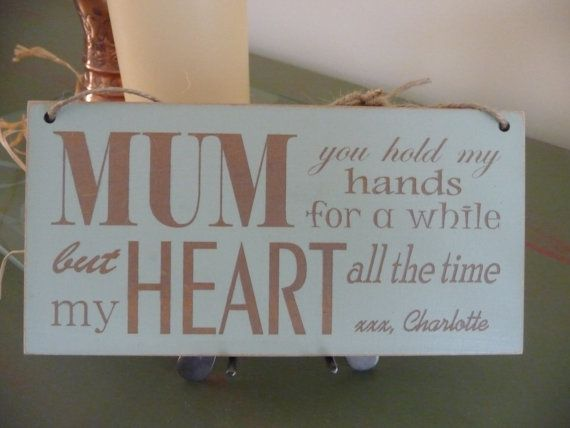 Personalised Mothers Day Sign Custom Mothers Day Gift  by Crafu