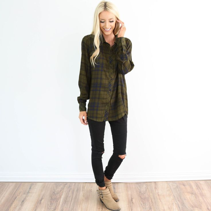 Colors: Olive Green & Navy * Full button up top Nursing friendly! I'm 5'3 wearing size small 100% Polyester wash on cold / hang dry