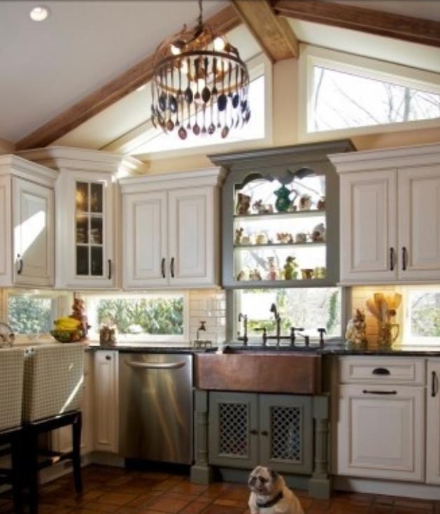 use windows as a kitchen backsplash