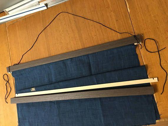 Furoshiki wood hanger made of wood wall fabric hanger wall