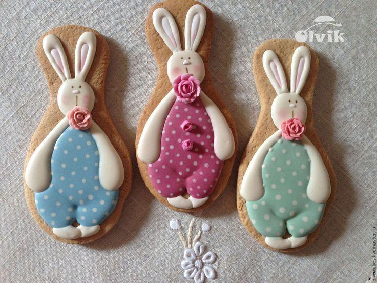 Купить пряник Тильда заяц - комбинированный, пряничный сувенир, Пряники имбирные, пряники москва