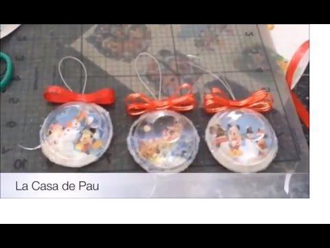 Esferas para navidad. Cómo hacer esferas navideñas. Muy fácil - YouTube