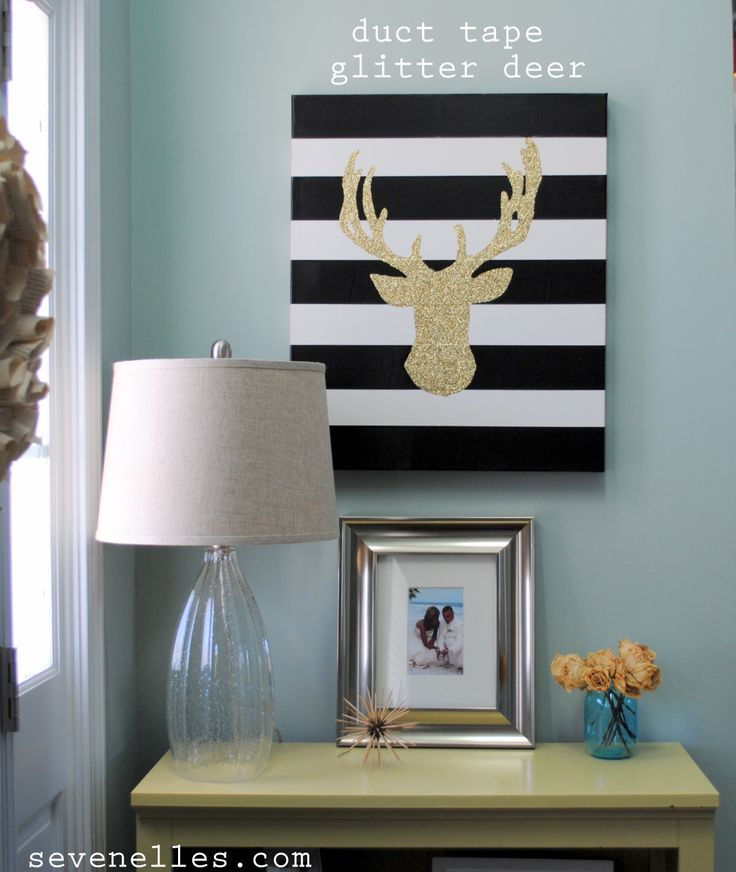 Pinterest Tape Home Decor Ideas: Love This! Duct Tape Glitter Art