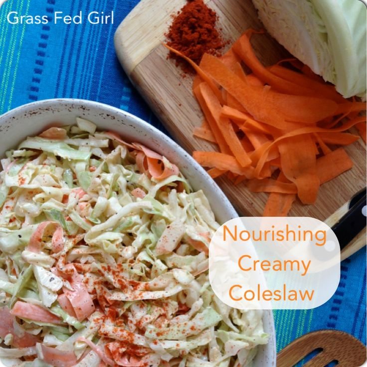 Creamy Paleo Coleslaw Recipe with a Kick and Summer BBQ Recipe Round Up - Grass Fed Girl, LLC