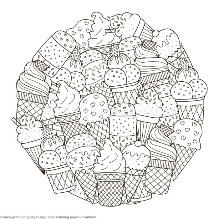 Circle Shape Ice Cream Pattern Coloring Pages Getcoloringpages Org Coloring Coloringbook Col Pattern Coloring Pages Mandala Coloring Pages Coloring Books
