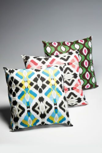 Aztec Style Patterned Cotton Cushion Pinks Colour   eBay