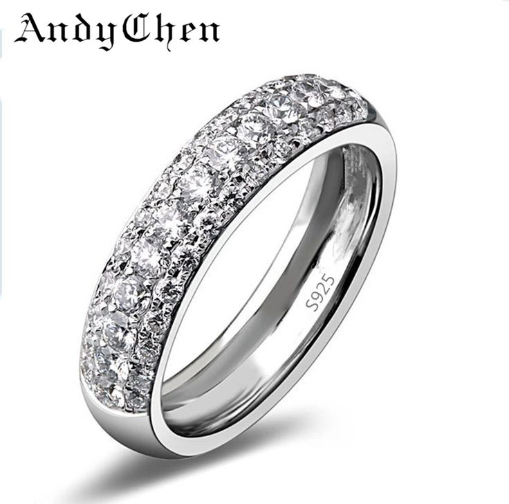 AndyChen Silver ︻ Plated Punk Bague Crystal Jewelry Wedding ⑧ Rings for Women Promise Bijoux Engagement Round Accessories ASR037AndyChen Silver Plated Punk Bague Crystal Jewelry Wedding Rings for Women Promise Bijoux Engagement Round Accessories ASR037