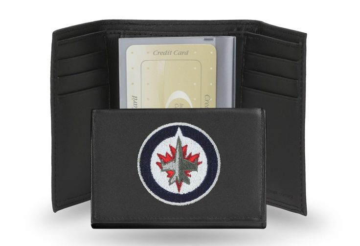 Winnipeg Jets NHL Team Embroidered Leather Trifold/Wallet