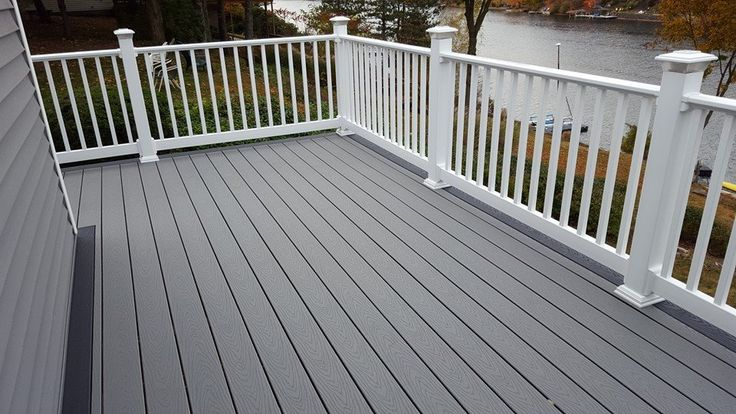 Trex Decking Colors >> Contractor shout out: This gorgeous waterfront deck was built by Heinbach… | Ideas for the House ...