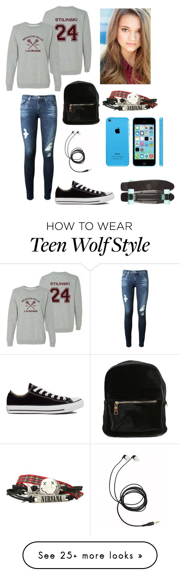 """New Story?"" by learning-to-love on Polyvore featuring moda, AG Adriano Goldschmied y Converse                                                                                                                                                                                 Más"