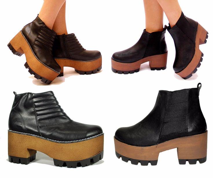 fotos de zapatos borcegos con taco - Buscar con Google