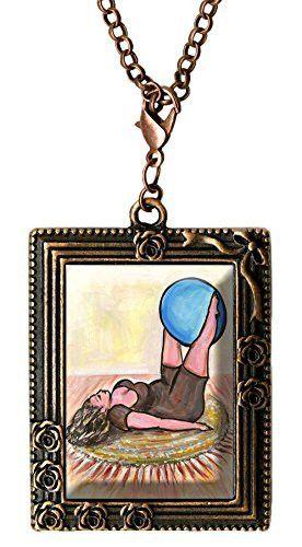 Curvy Girl Fitness Antique Copper Huge Oversize Multi Use Clip Charm Pendant
