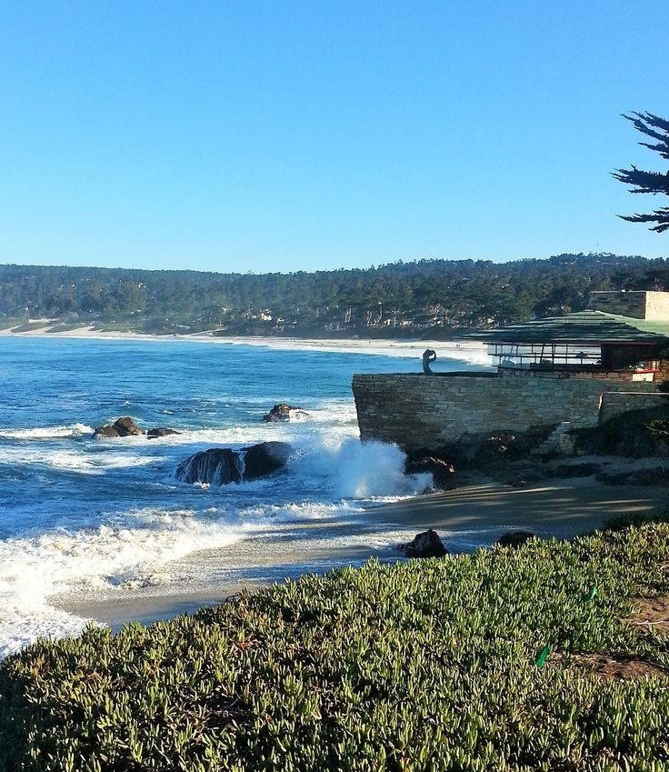 My morning walk along Scenic past this Frank Lloyd Wright home with Pebble Beach in the distance. http://ilovecarmelcalifornia.com