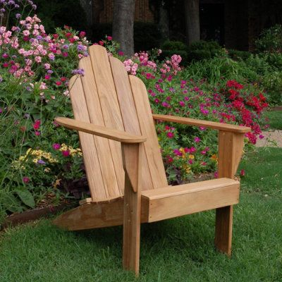 All-natural Teak Adirondack Chair