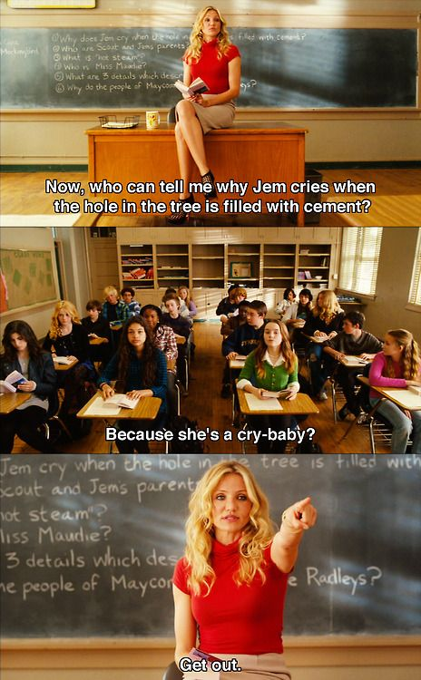 Bad Teacher. This is my new style. Teaching style.