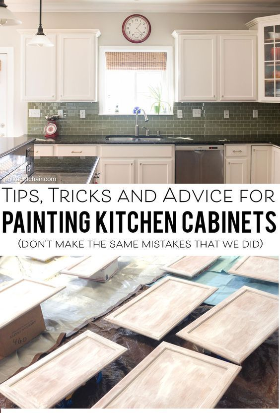 Lots of tips and tricks and what not to do if you're thinking about painting kitchen cabinets. How to paint your kitchen cabinets and white kitchen ideas.