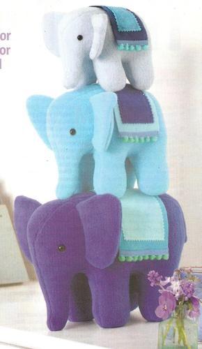ALAN DART ELEPHANT FAMILY PARADE - TOY SEWING PATTERN