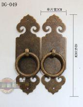 100mm Bronzen Chinese antieke koperen deur deurklink rechte Tablet kast knoppen en handgrepen antiek handvatten voor meubels(China)