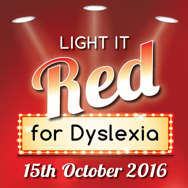 Light it Red for Dyslexia Logo
