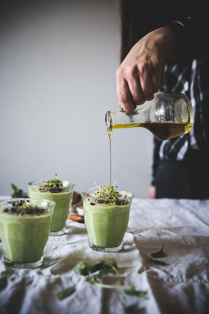 Gaspacho vert au concombre, petits pois & avocat - Ophelie's Kitchen Book