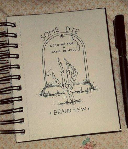 drawing lyrics Brand New doodle myart Dotwork