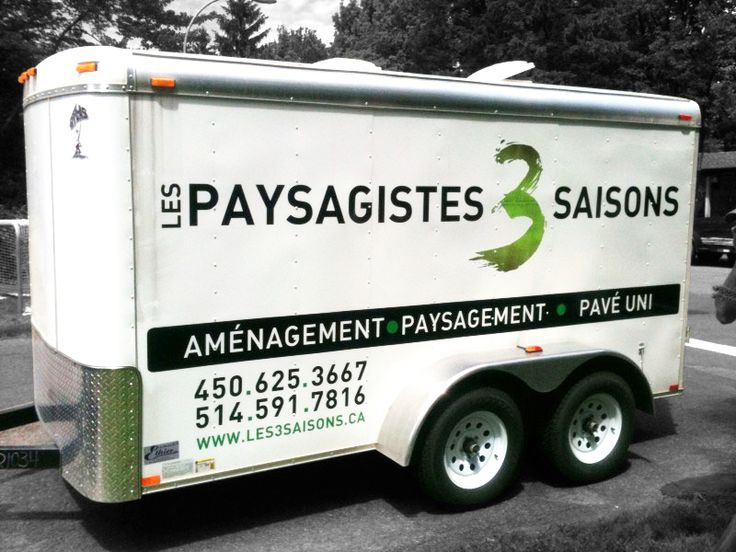56 best lettrage remorque cargo trailer wrap images on for Les paysagistes