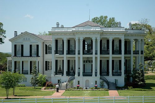 Nottaway Plantation, only plantation in the area along the MIssissippi River that was left totally untouched during the Civil War.