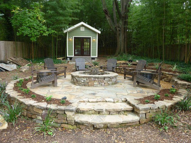 Fire Pit; Firepit; Shed; Stone Patio; Landscape Ideas