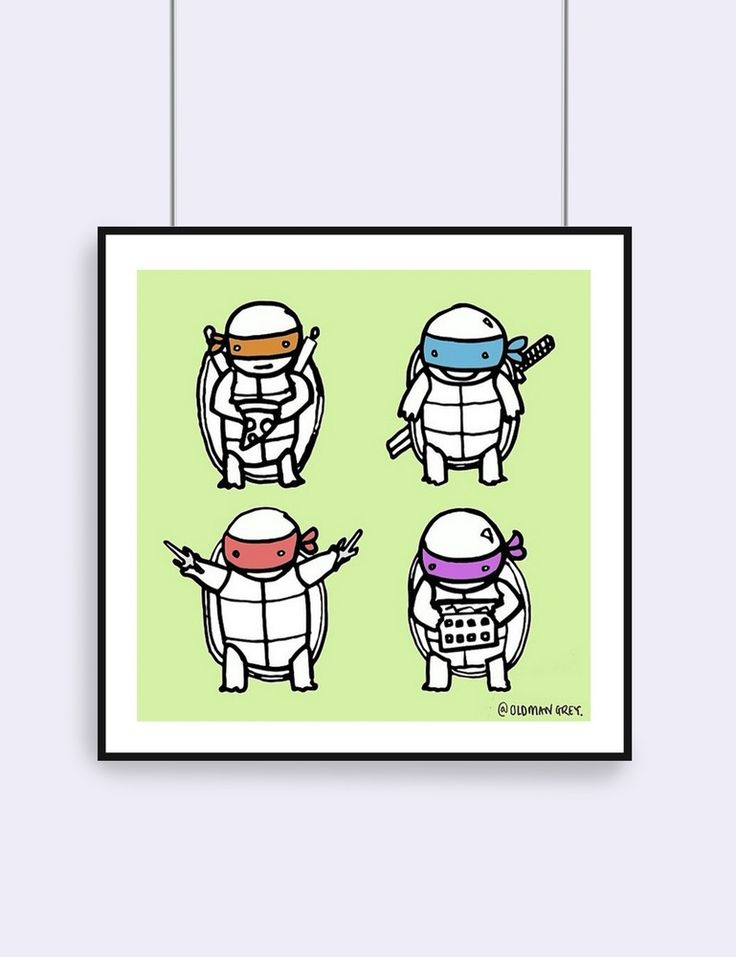 'Teen Turtle' TMNT print now available on my website www.oldmangrey.com