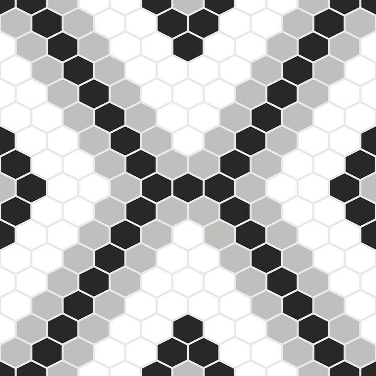 WallPops FP2950 Leyton Peel & Stick Floor Tiles Black
