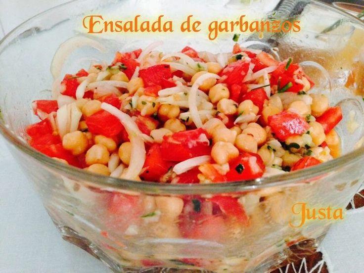 Recetario de Justa: Ensalada de Garbanzos especiada