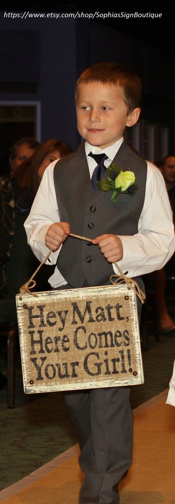 Hey, I found this really awesome Etsy listing at https://www.etsy.com/listing/164742191/here-comes-your-girl-wedding-sign-aisle