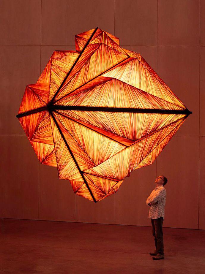 creative creations lighting. pyramid lighting sculpture by albi serfaty and benad dar of telavivu0027s aqua creation is a structure made silk 28 triangular frames creative creations d