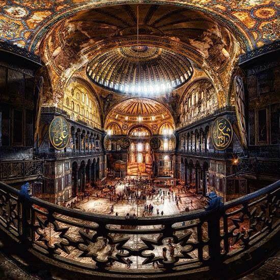 "Hagia Sophia (from the Greek: Ἁγία Σοφία, ""Holy Wisdom""; Latin: Sancta Sophia or Sancta Sapientia; Turkish: Ayasofya) is a former Greek Orthodox patriarchal basilica (church), later an imperial mosque, and now a museum in Istanbul, Turkey."