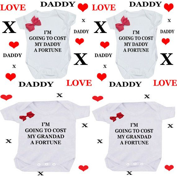 Nonna or Nonno Godmother or godfather 1 x bodysuit or 1 x T-shirt or 2 x white bibs or DESIGN YOUR OWN