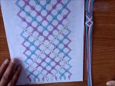 braccialetto dell´amicizia con colori arcobaleno braccialetto con fili di cotone a forma di freccia - YouTube
