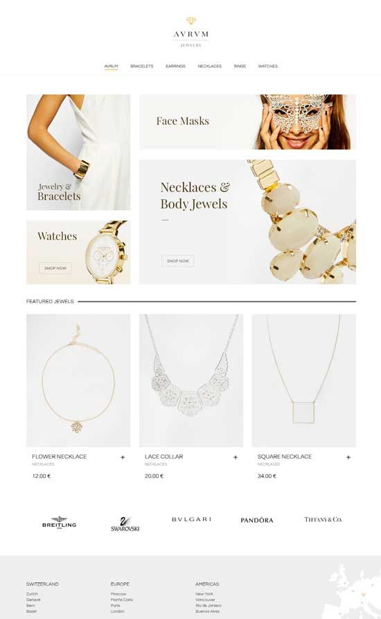 Minimalist Shopping Jewelry WordPress Theme