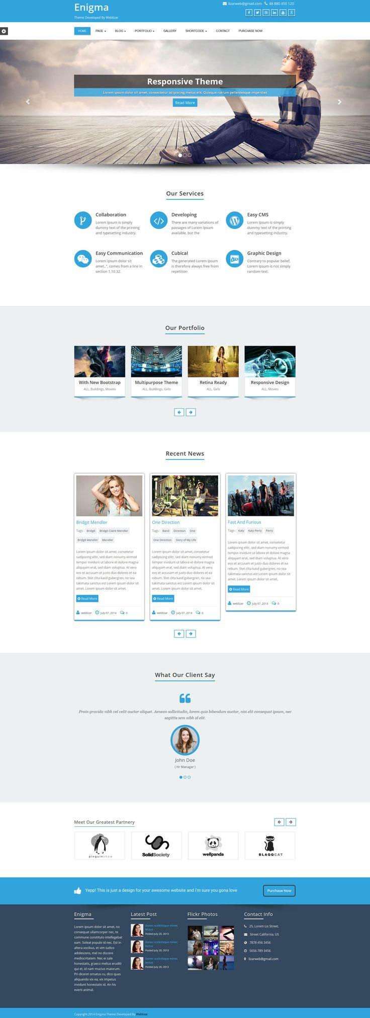 Enigma Premium WordPress Theme