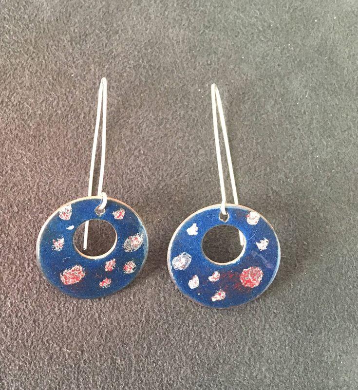 EnamelArt vitreous enamel earrings