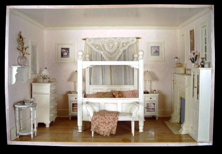 Barbie Bedroom In A Box: Room Box, Bedroom. Recreated From A Picture In A Magazine
